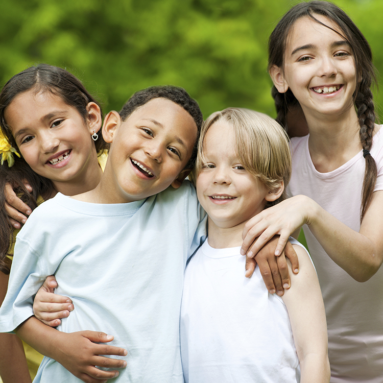 Multicultural group of children